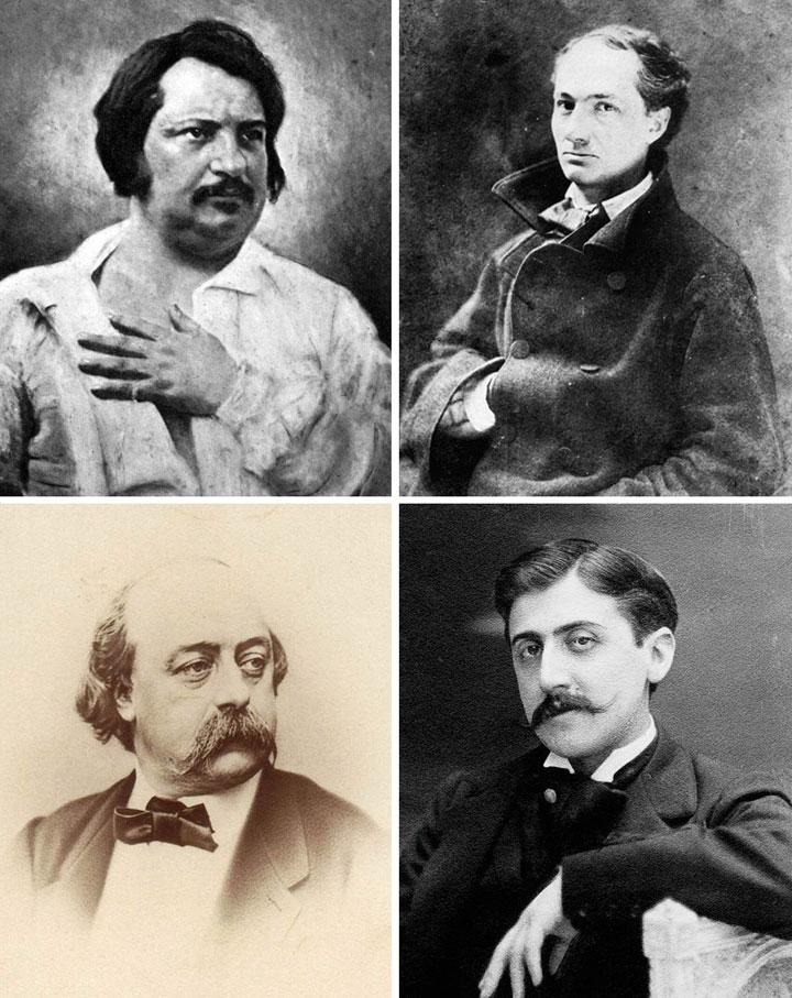 Balzac-Baudelaire-Flaubert-Proust