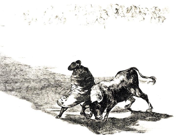 Grabado de la serie <em>La Tauromaquia,</em> de Francisco de Goya