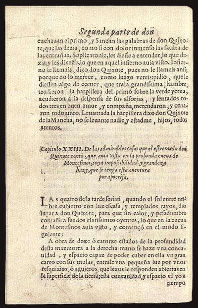 Pagina de la edición princeps del 'Quijote'