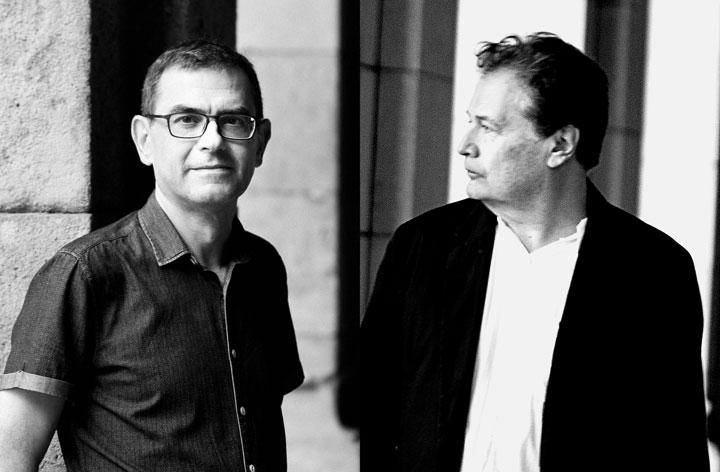 Xavier Pérez y Jordi Balló. © Marc Balló / Mònica Cortés