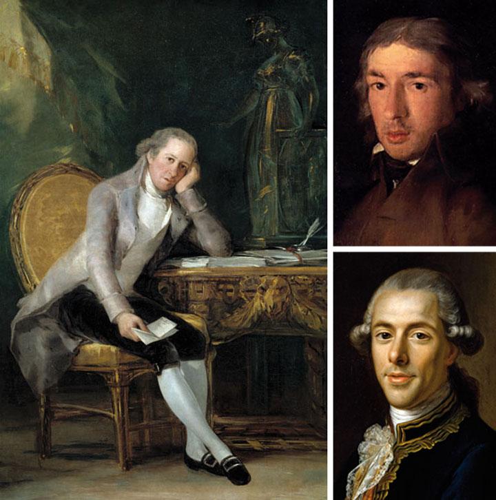 Gaspar Melchor de Jovellanos, Leandro Fernández de Moratín y Tomás de Iriarte