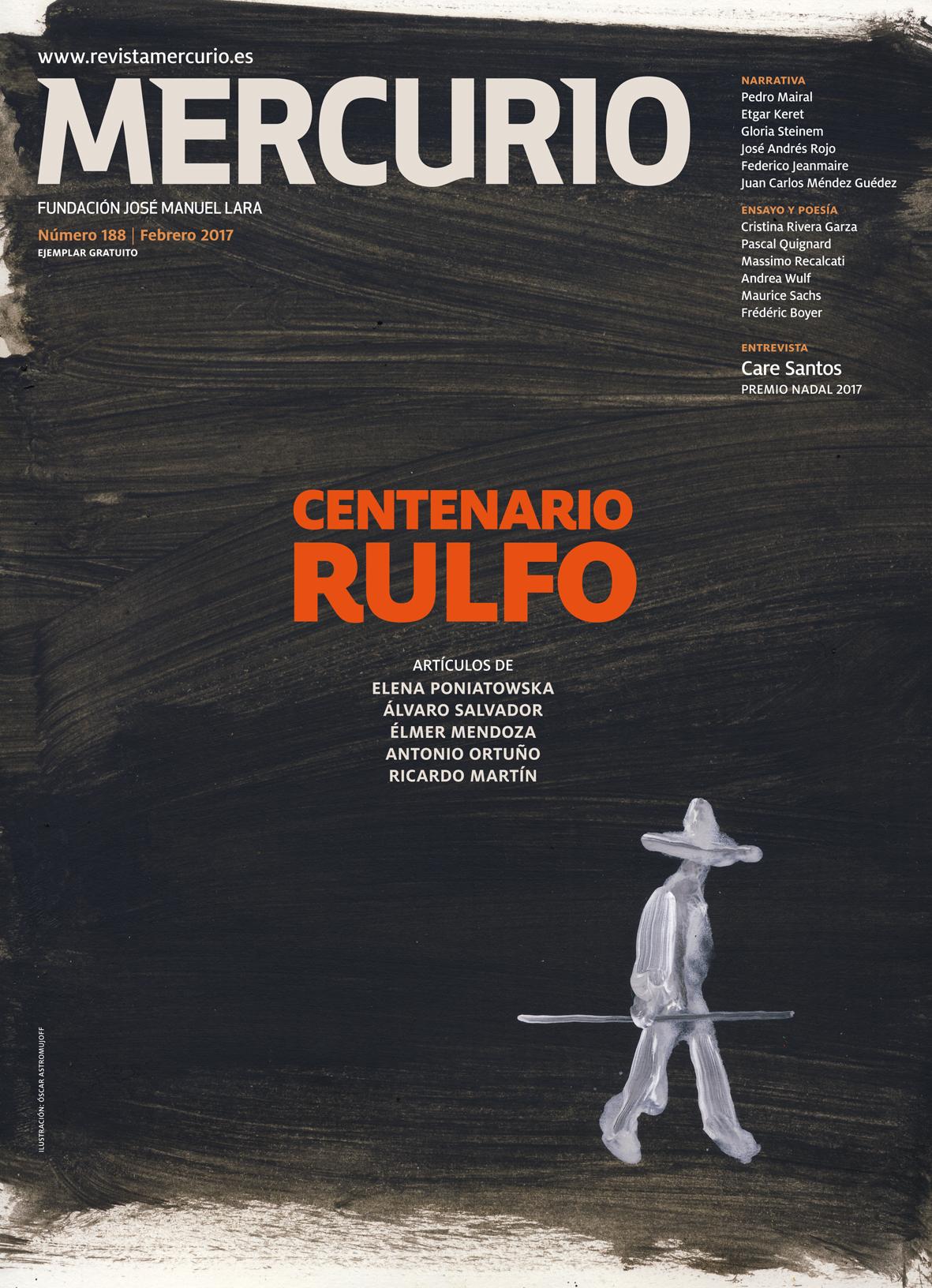Mercurio 188. Febrero 2017. Ilustracion Óscar Astromujoff