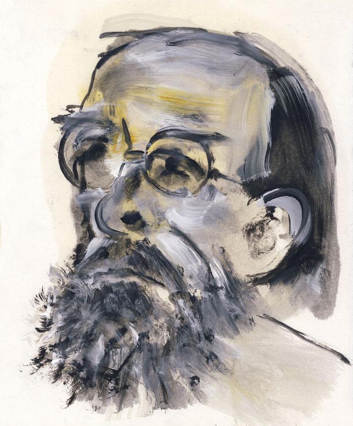 Retrato de Juan Eduardo Zúñiga. © Óscar Astromujoff