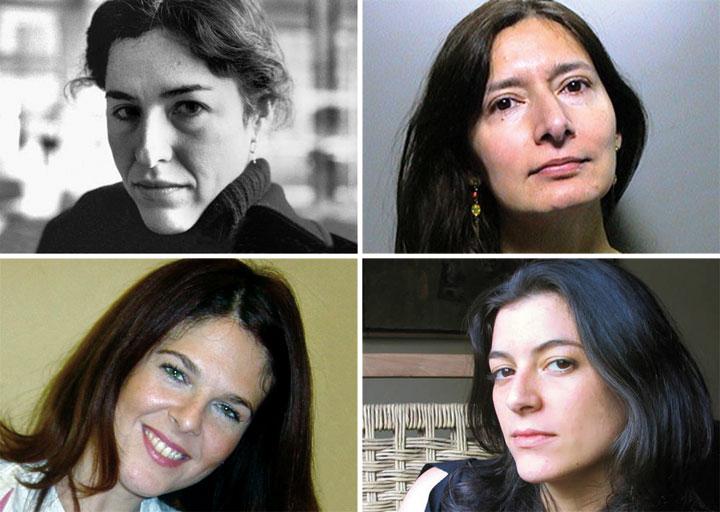 Arriba, Guadalupe Nettel e Isabel Mellado; abajo, Valeria Correa Fiz y Samanta Schweblin.