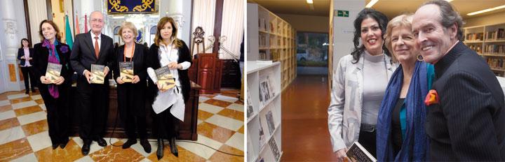 María Tena presentó la novela El novio chino en Málaga, junto al alcalde Francisco de la Torre, y en Sevilla, con Eva Díaz Pérez y Carlos Telmo