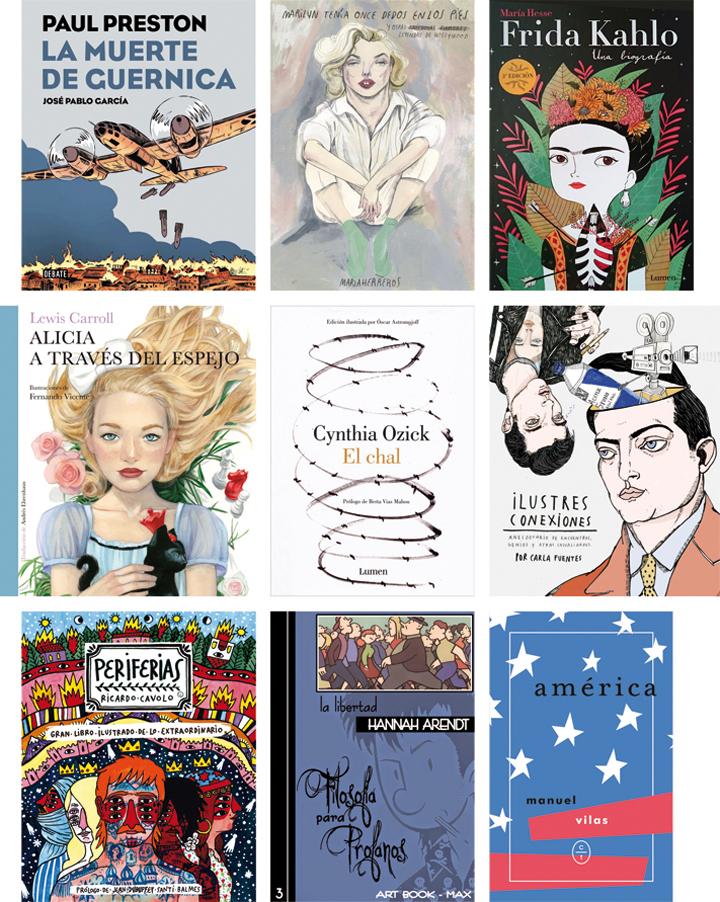 Ilustraciones de José Pablo García, María Herreros, María Hesse, Fernando Vicente, Óscar Astromujoff, Carla Fuentes, Ricardo Cavolo, Max y Miguel Sánchez Lindo