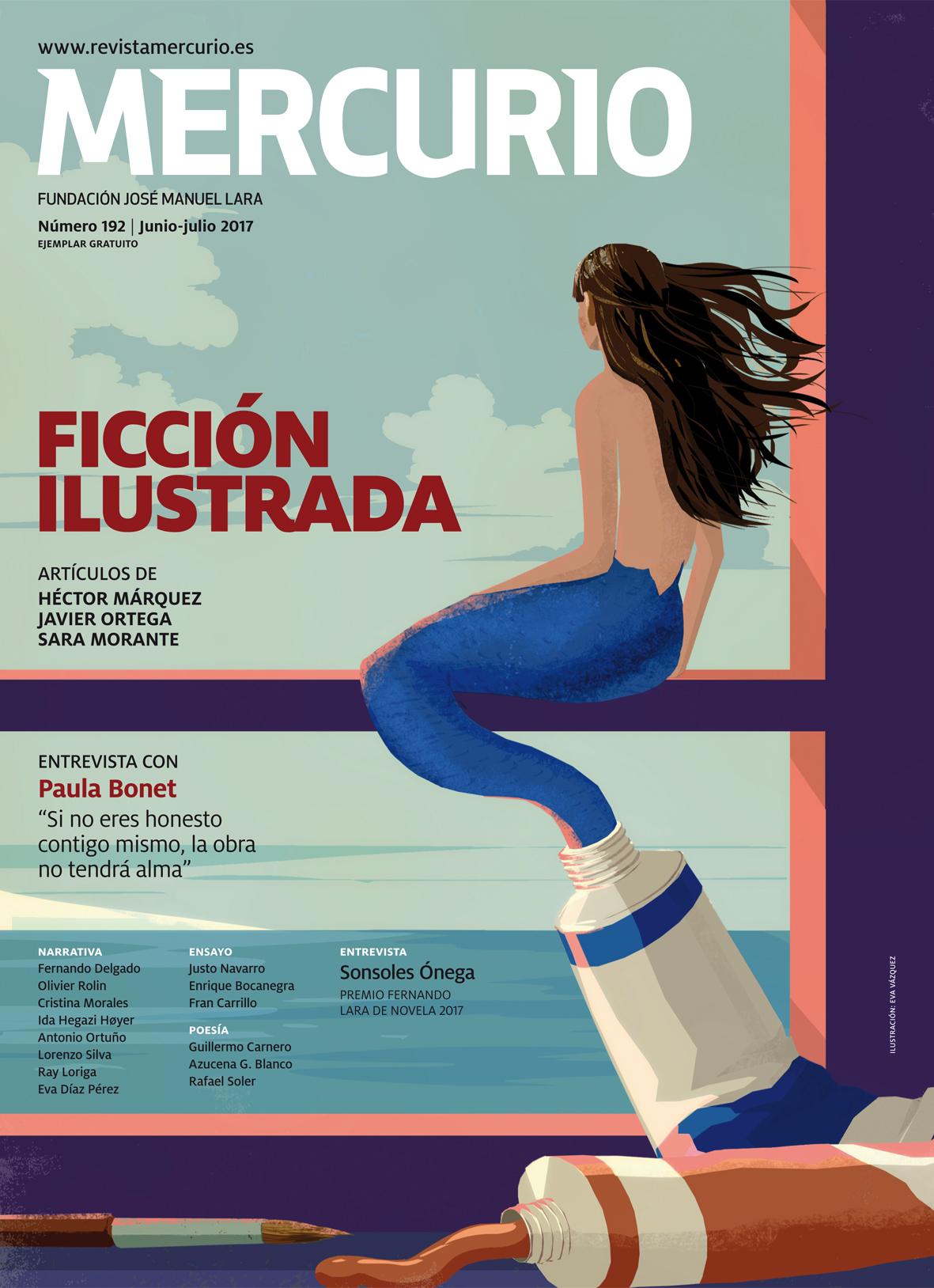 Mercurio 192. Junio-julio 2017. Ilustración: Eva Vázquez