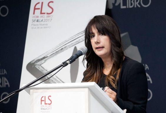 Dolores Redondo, ganadora del Premio Planeta 2016, fue la pregonera de la Feria del Libro de Sevilla este año. © Luis Serrano