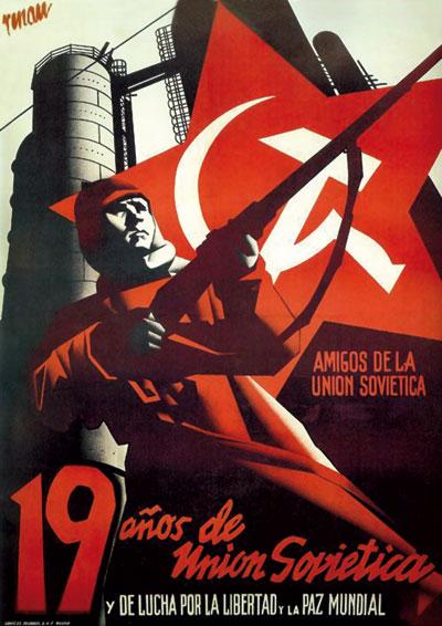 Josep Renau realizó en 1936 este cartel para la asociación española de Amigos de la Unión Soviética.