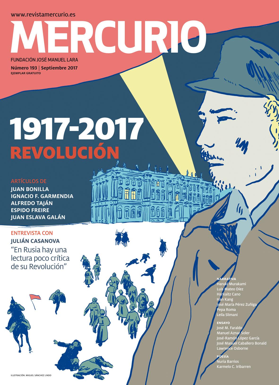 Mercurio 193. Septiembre 2017. Ilustración: Miguel Sánchez Lindo