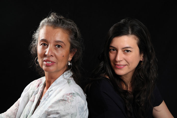 Duna Rolando y Samanta Schweblin. © Isabel Wangemann