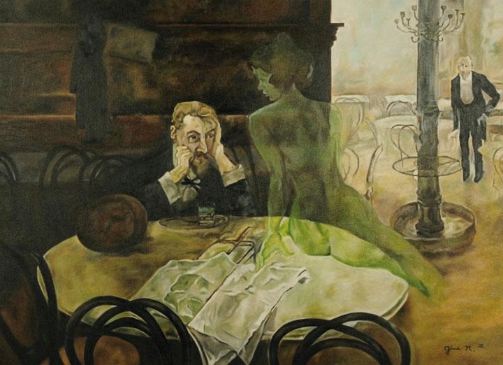 'El bebedor de absenta' (1901) de Viktor Oliva