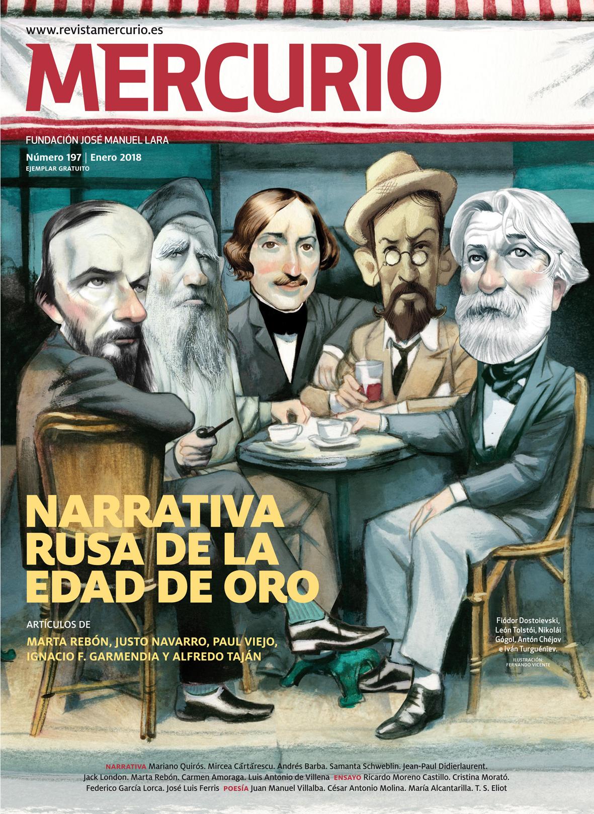 Mercurio 197. Enero 2018. Ilustración: Fernando Vicente