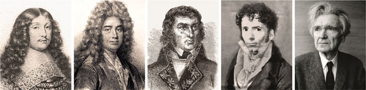 La Rochefoucauld, La Bruyère, Joubert, Chamfort y Cioran