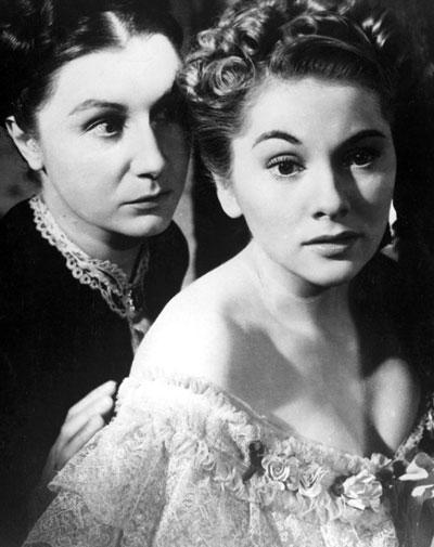 Judith Anderson y Joan Fontaine en la película 'Rebeca', de Alfred Hitchcock
