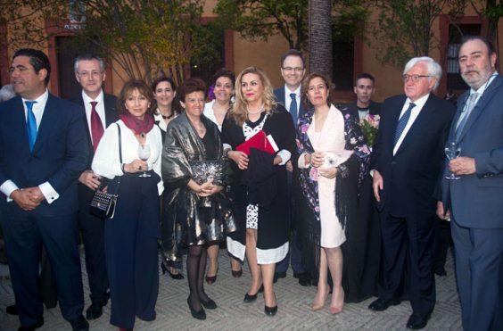 Representantes de AXA y patronos de la Fundación. © Luis Serrano / Juan Carlos Cazalla