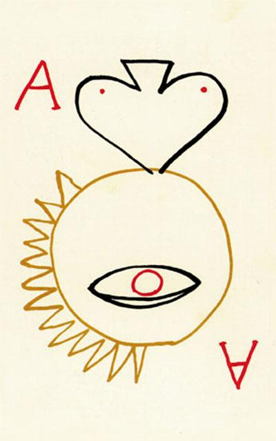 'Juego de cartas', Max Aub. Carta de la baraja pintada por Jusep Torres Campanals