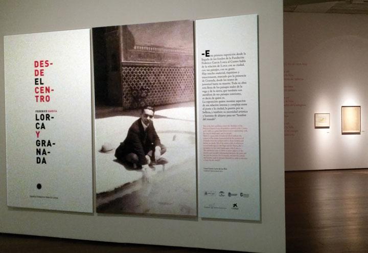 Fotografía de la exposición 'Desde el Centro. Federico García Lorca y Granada'. © Ricardo Martín