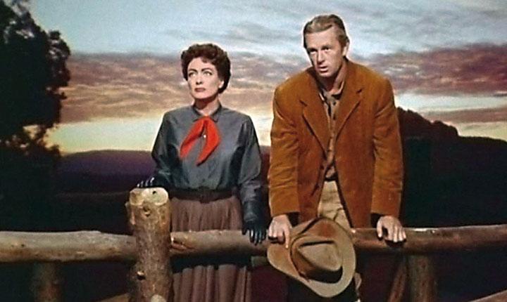 Joan Crawford y Sterling Hayden en 'Johnny Guitar'.