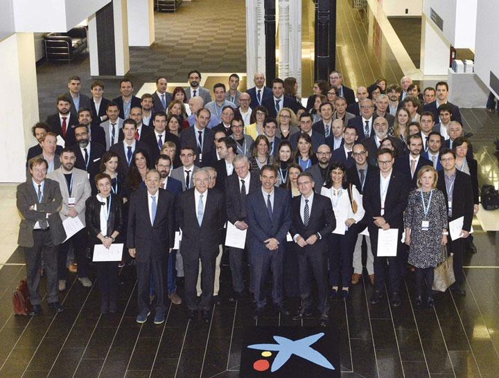 Acto de entrega de las ayudas a 75 investigadores nacionales e internacionales.