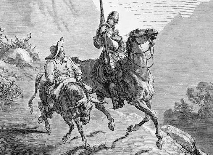 Ilustración de Gustave Doré para una edición francesa del 'Quijote' de 1863.